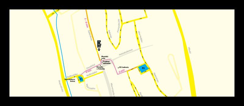 Stiahnite si mapu parkovísk pre tlač vo formáte A4.